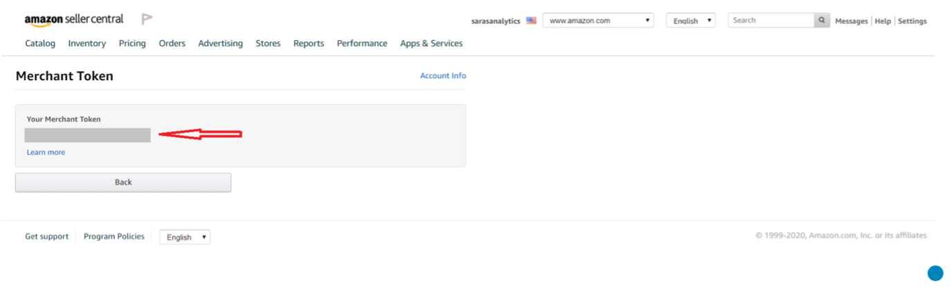 How to find Amazon MWS Merchant Auth Token? 2